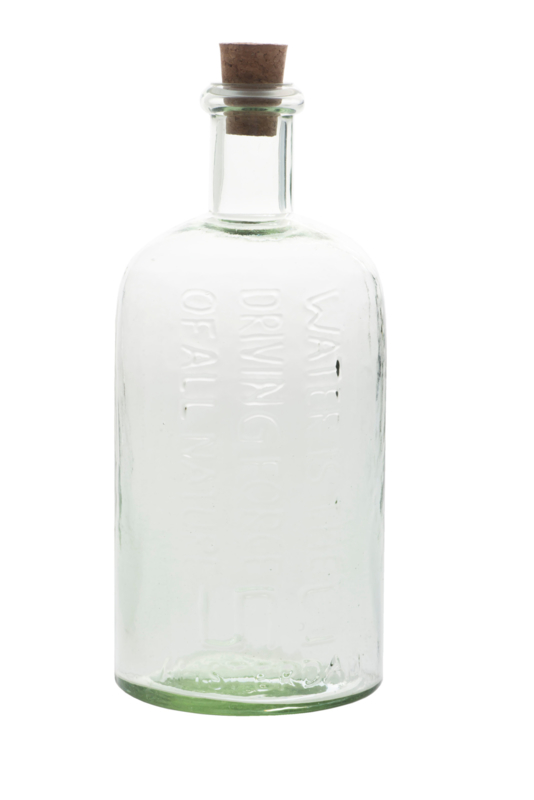 UNC recycled glas waterfles