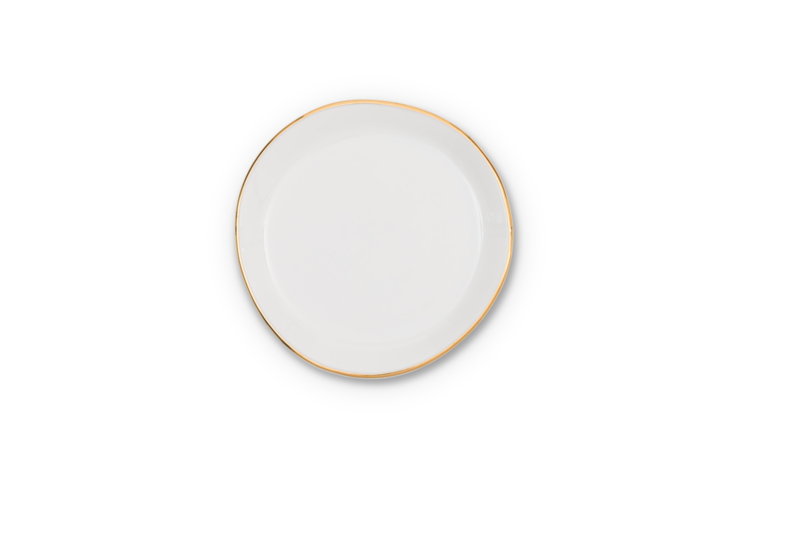 UNC  Good Morning klein bordje wit met gouden randje
