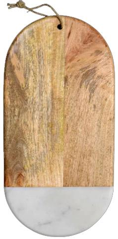 Dassie serveerplank Kiari ovaal marble wit