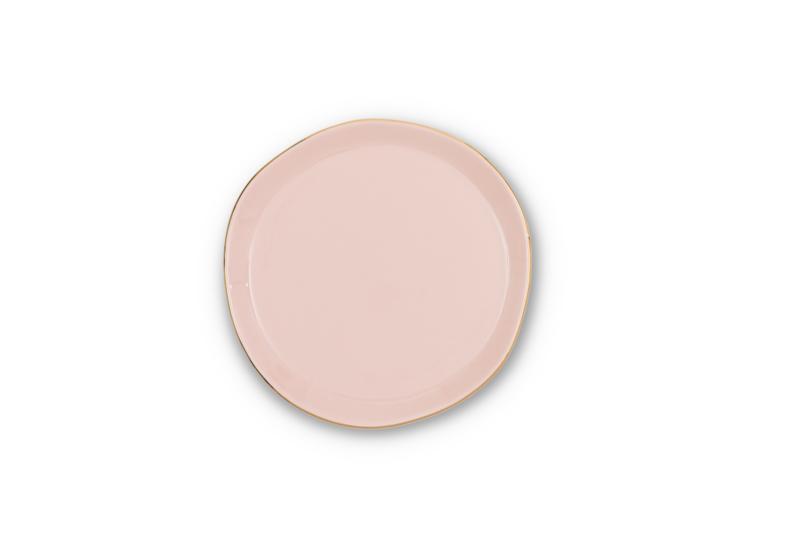 UNC  Good Morning bordje pink met gouden randje