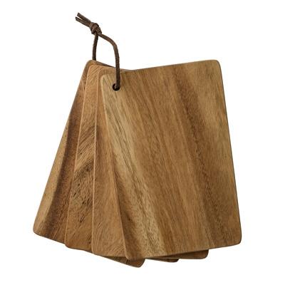 Bloomingville acacia houten serveerplank (set van 4)