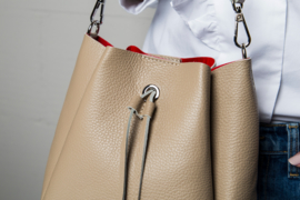 RACHEL BUCKET BAG BEIGE