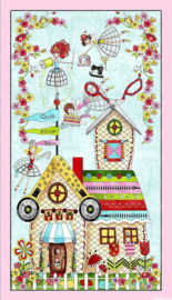 PANEL:  'TheQuilted Cottage - A Place To Sew' - 26422-X