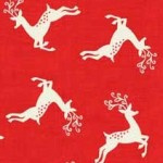 Scandi Christmas - Deer Scatter Red - 1785/R