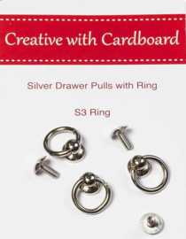 Silver Drawer Pulls with Ring