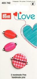 Prym Love - 3 Handmade Pins - 403.742
