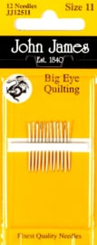 John James Big Eye Quilting Needles #11 - 12 stuks - JJ12511