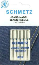 SCHMETZ - Naaimachine Jeans Naalden - 5 stuks - 130/705 HJ - 80/12