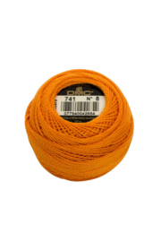 DMC Pearl Cotton on a Ball, Small - Size 8 - 10 gram, Color 741