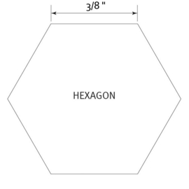 Hexagon 3/8 inch - Pre Cut English Paper Pieces (150 stuks)