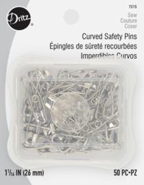 Gebogen Veiligheidsspelden (Dritz) - 26mm - 50 stuks