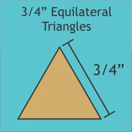 "3/4"" Equilateral Triangles (50 Pieces)"