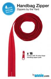 Zipper - 4 yards - Atom red