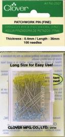 Patchwork Spelden: Extra Fijn - 100 stuks - 0,40 x 36 mm (Clover 2507)