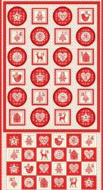 Panel: Scandi Advent Rood-Wit - 1971/1