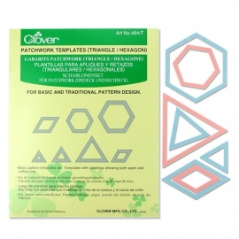 Clover Patchwork Templates - Triangles / Hexagons