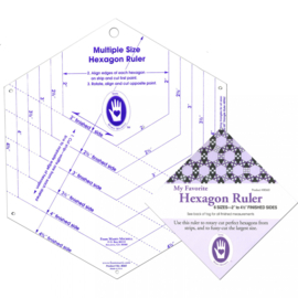 Marti Michell Hexagon Ruler - 6 verschillende maten