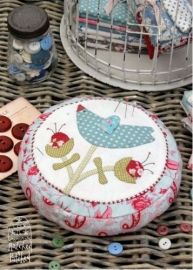 Lilly's Bluebird Pincushion - Hatched & Patched