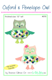 Patroon Uil:  Oxford & Penelope Owl by Eva Blake's Makery