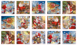 PANEL:  'Santa Claus is coming - Blockpanel' by Gilberto Marchi - 26001WHITE