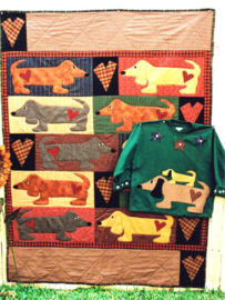 Meme's Quilts - 'Wiener Dog Wonderland'