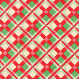 Moda - 'Swell Christmas' by Urban Chiks - Christmas Plaid Red - 31122-11
