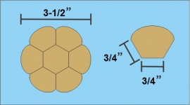"3/4"" Hex Den (2 sets - 7 stuks Paper Pieces)"