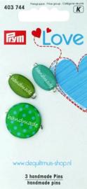 Prym Love - 3 Handmade Pins - 403.744