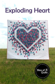 Patroon: Exploding Heart by Slice of Pi Quilts