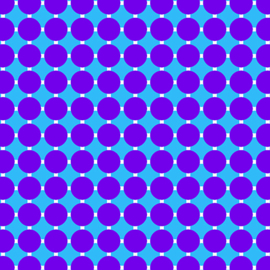 GRIDWORK by Christa Watson - CIRCLE GRID GRAPE/BLUE - 6815-62