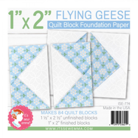 """Quilt Block Foundation PaperPad - 1 x 2"""" FLYING GEESE"""