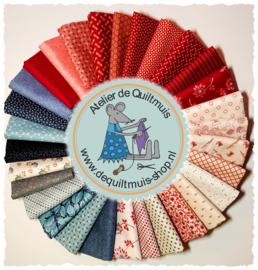 Quiltmuis Fabric Box 'Dutch Vintage' - 30 stoflapjes Sweet Sixteen