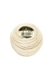 DMC Pearl Cotton on a Ball, Small - Size 8 - 10 gram, Color ECRU