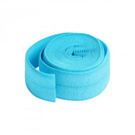 Fold over elastic -2 yard - Parrot Blue