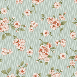 Grandeur Rose by Painted Sky Studio - 6949-40 - Petite Floral, Light Green