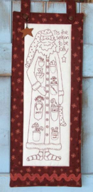 Jolly Santa - Stitchery, Voorgedrukt op Stof (The Birdhouse)