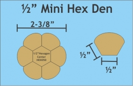 "1/2"" Mini Hex Den (4 sets - 7 stuks Paper Pieces)"
