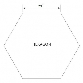 Hexagon 7/8 inch - Pre Cut English Paper Pieces (60 stuks)