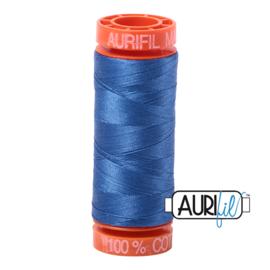 Aurifil Quiltgaren- MAKO 50 - 200 meter - Kleur: 6738 - Peacock Blue