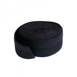 Fold over elastic - 2 yard - Black