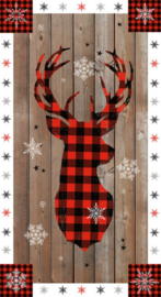"""PANEL: 'Warm Winter Wishes' by Lucie Crovatto - 24"""" Panel - 5879P-89 Multi"""