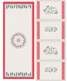 Panel: Snow Day Table Centre & Placemats cream - C40.1