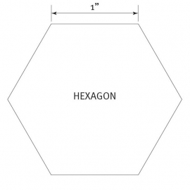 Hexagon 1 inch - Pre Cut English Paper Pieces (50 stuks)