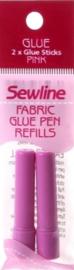 Sewline - Navulling voor Sewline Lijmpen PINK - 2 stuks