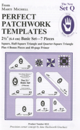 Perfect Patchwork Templates, The New Set Q (7 pieces) - Martic Michell