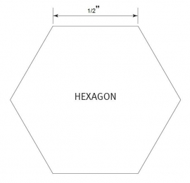 Hexagon 1/2 inch - Pre Cut English Paper Pieces (75 stuks)