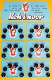 Drukknoopjes Aannaaibaar (8mm) - Zwart, 36 stuks