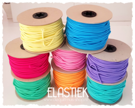 Koord Elastiek - Rond 3 mm - Diverse kleuren - per meter