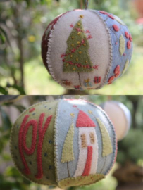 Joyful Xmas Bauble - Hatched & Patched