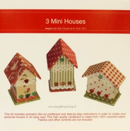 Kartonnage - 3 Mini Houses
